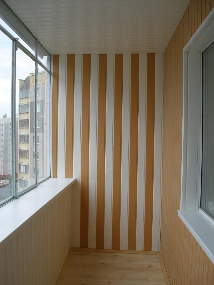 Ремонт балкона своими руками пластиковыми панелями